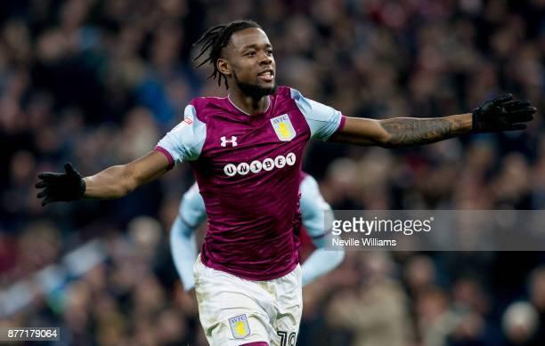 Josh Onomah of Aston Villa scores for Aston Villa during the Sky Bet Championship match between Aston Villa and Sunderland at Villa Park on November...
