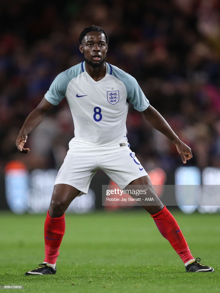 Josh Onomah of England U21 during the UEFA European Under 21 Championship Qualifiers fixture between England U21 and Scotland U21 at Riverside Stadium on October 6, 2017 in Middlesbrough, England.