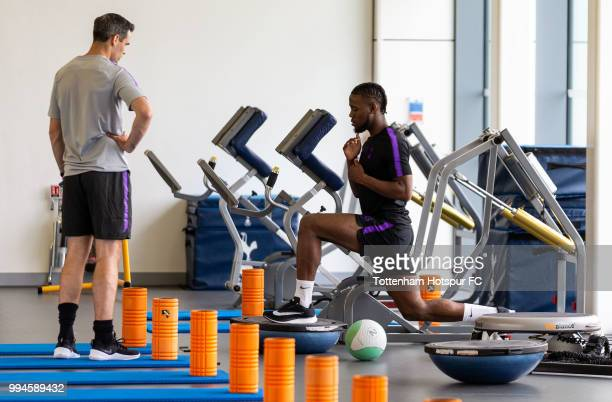 Josh Onomah of Tottenham Hotspur during pre season training at Tottenham Hotspur Training Centre on July 9 2018 in Enfield England