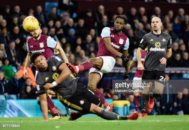 Josh Onomah scores the second goal for Aston Villa during the Sky Bet Championship match between Aston Villa and Sunderland at Villa Park on November...
