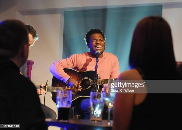 Josh Osho performs on the Arthurs Day Special on RTE 2, ahead of the Guinness Arthur's Day celebrations on September 26, 2012 in Dublin, Ireland....