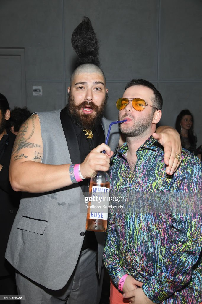 Josh Ostrovsky (L) and Kirill Bichustky attend the 2018 Tribeca Film Festival World Premiere of Bert Marcus' THE AMERICAN MEME on April 27, 2018 at Spring Studios in New York City.