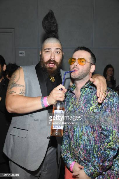 Josh Ostrovsky and Kirill Bichustky attend the 2018 Tribeca Film Festival World Premiere of Bert Marcus' THE AMERICAN MEME on April 27 2018 at Spring...