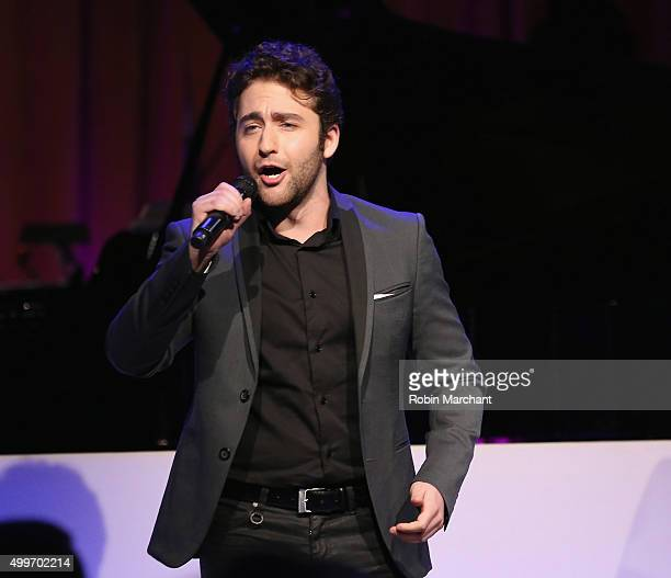 Josh Page of Forte Tenors performs at the Prostate Cancer Foundation Invites You To The 2015 New York Dinner With Celebrity Hosts Whoopi Goldberg...