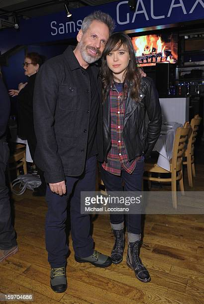 Josh Pais and Ellen Page attend The Samsung Galaxy Lounge Hosts Cast Dinners for Touchy Feely and We Are What We Are at Village At The Lift 2013 on...