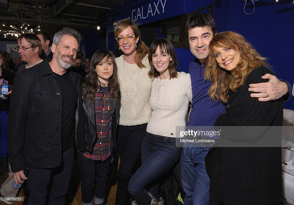 Josh Pais, Ellen Page, Allison Janney, Rosemarie DeWitt, Ron Livingston, and Lynn Shelton attend The Samsung Galaxy Lounge Hosts Cast Dinners for 'Touchy Feely' and 'We Are What We Are' at Village At The Lift 2013 on January 18, 2013 in Park City, Utah.