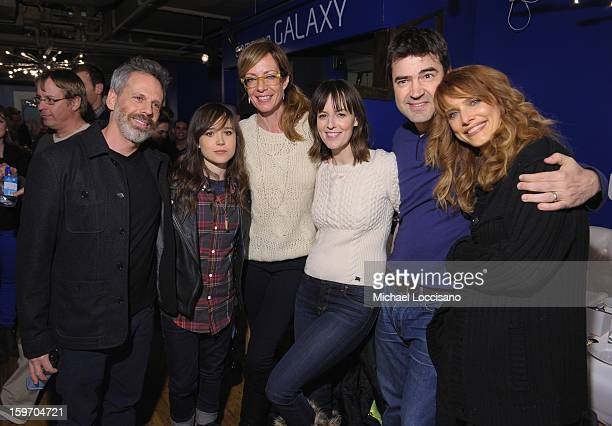Josh Pais Ellen Page Allison Janney Rosemarie DeWitt Ron Livingston and Lynn Shelton attend The Samsung Galaxy Lounge Hosts Cast Dinners for Touchy...