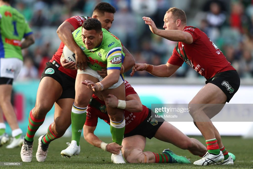 NRL Rd 24 - Raiders v Rabbitohs : News Photo