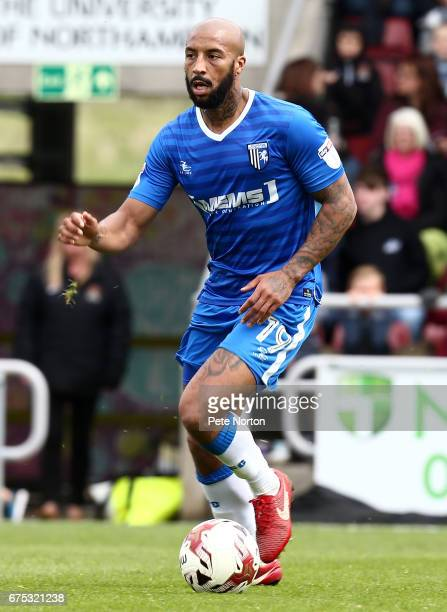 Josh Parker of Gillingham in action during the Sky Bet League One match between Northampton Town and Gillingham at Sixfields on April 30 2017 in...