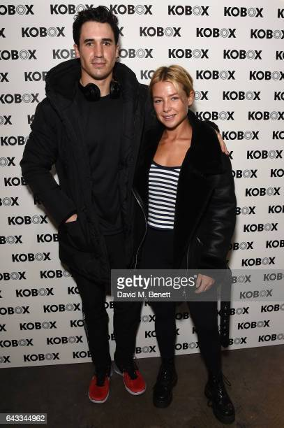 Josh Patterson and Jess Woodley attend as KOBOX Trainer Antoine Dunn and sister Jourdan Dunn kick of the KOBOX city studio with a boxing workout on...