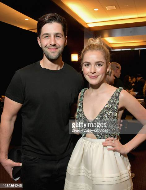 Josh Peck and Kiernan Shipka attend Nickelodeon's 2019 Kids' Choice Awards at Galen Center on March 23 2019 in Los Angeles California