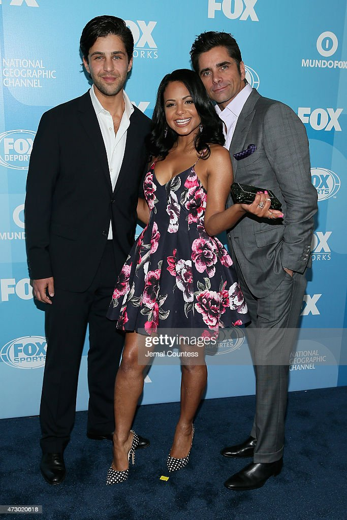Josh Peck, Christina Milian and John Stamos attend the 2015 FOX programming presentation at Wollman Rink in Central Park on May 11, 2015 in New York City.