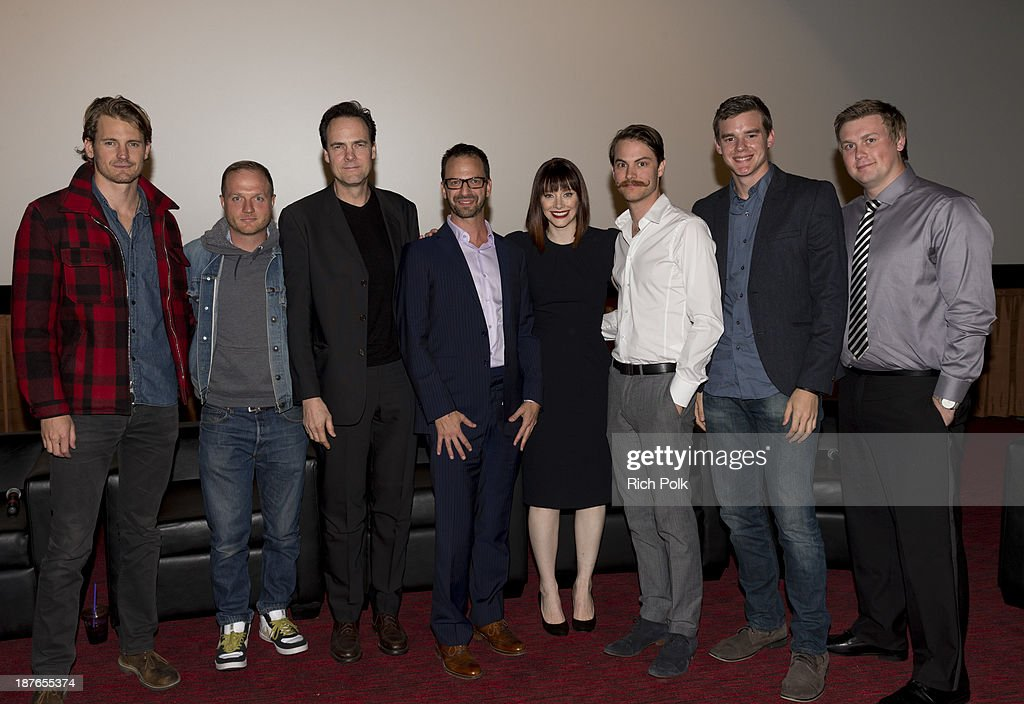 Josh Pence, Andrew Wheeler, Kalman Apple, Ari Karpel, Bryce Dallas Howard, Jared Nelson, and Arrius Sobonne at Canon's Los Angeles Screening Of The Project Imaginat10n Film Festival at Pacific Ronnie Allman, Theaters at the Grove on November 7, 2013 in Los Angeles, California.