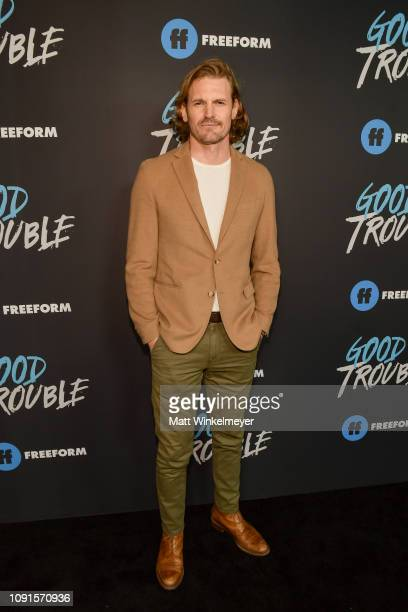 Josh Pence attends the premiere of Freeform's Good Trouble at Palace Theatre on January 08 2019 in Los Angeles California