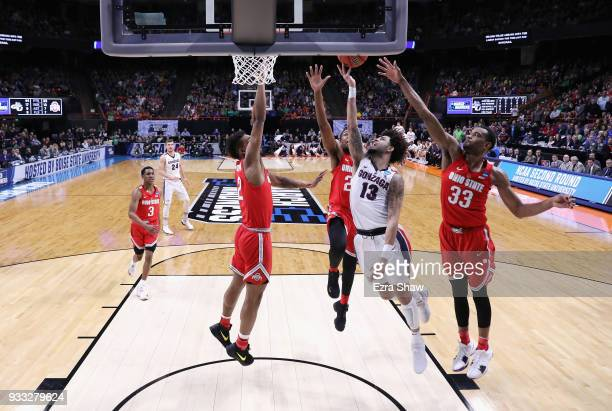 Josh Perkins of the Gonzaga Bulldogs shoots the ball against the Ohio State Buckeyes in the second round of the 2018 NCAA Men's Basketball Tournament...