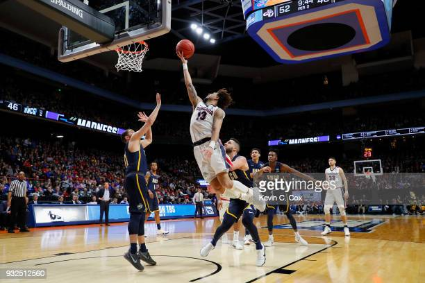Josh Perkins of the Gonzaga Bulldogs shoots the ball in the second half against the UNCGreensboro Spartans during the first round of the 2018 NCAA...