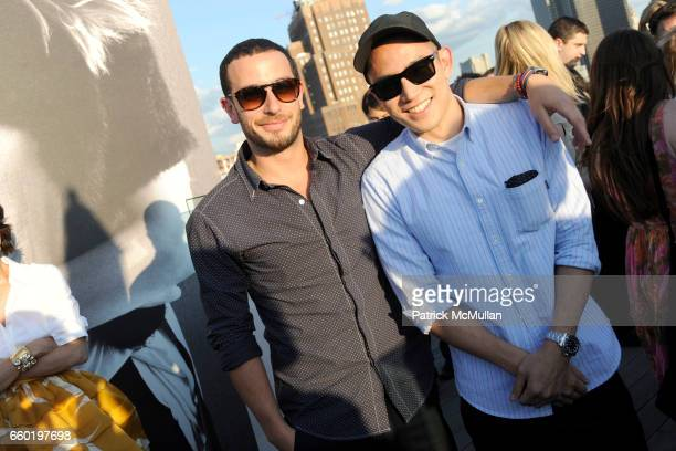 Josh Peskowitz and Eugene Tong attend DAVID YURMAN Annual Summer Rooftop Party at David Yurman on July 14 2009 in New York City
