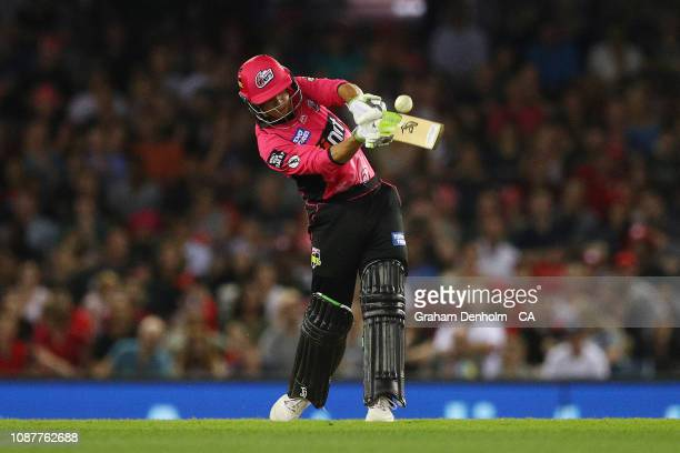 Josh Philippe of the Sixers bats during the Big Bash League match between the Melbourne Renegades and the Sydney Sixers at Marvel Stadium on December...