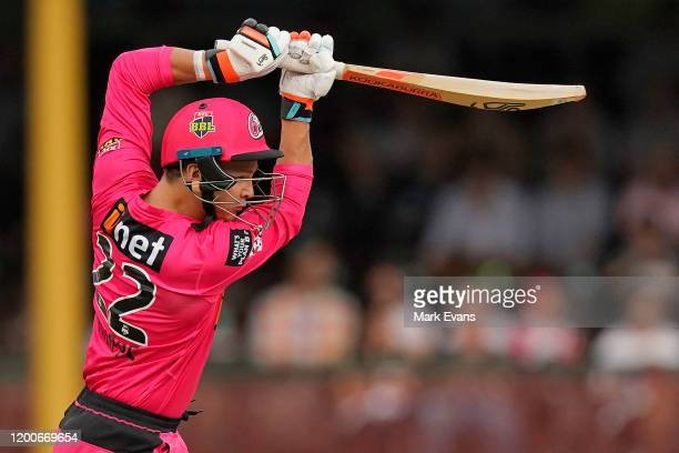 Josh Philippe of the Sixers bats during the Big Bash League match between the Sydney Sixers and the Melbourne Stars at Sydney Cricket Ground on...