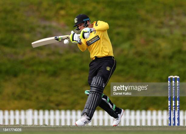 Josh Philippe of Western Australia during the Marsh One-Day Cup match between South Australia and Western AUstralia at Karen Rolton Oval, on...