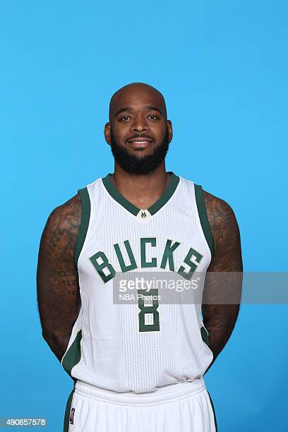 Josh Powell of the Milwaukee Bucks poses for a portrait during Media Day on September 28 2015 at the Orthopaedic Hospital of Wisconsin Training...