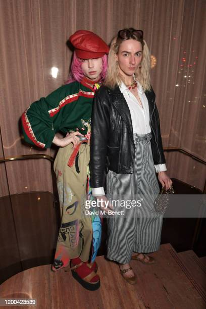 Josh Quinton and Josephine Jones attend the NME Awards after party in association with Copper Dog at The Standard on February 12 2020 in London...