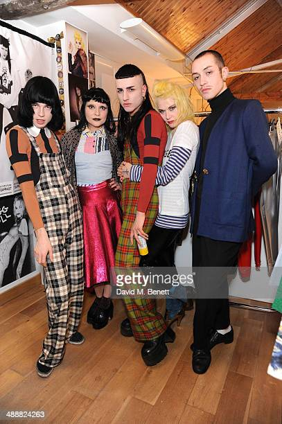 Josh Quinton Princess Julia Andy Bradin Pam Hogg and Robert Fox at the Future Factory launch party with Malibu Rum on May 8 2014 in London England