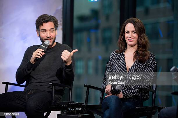 Josh Radnor and Elizabeth Reaser visit Build series to discuss Babylon Line at AOL HQ on December 8 2016 in New York City
