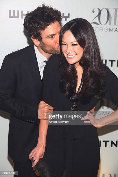 Josh Radnor and Lindsay Price attend the 2009 Whitney Contemporaries Art Party and auction at Skylight on June 17, 2009 in New York City.