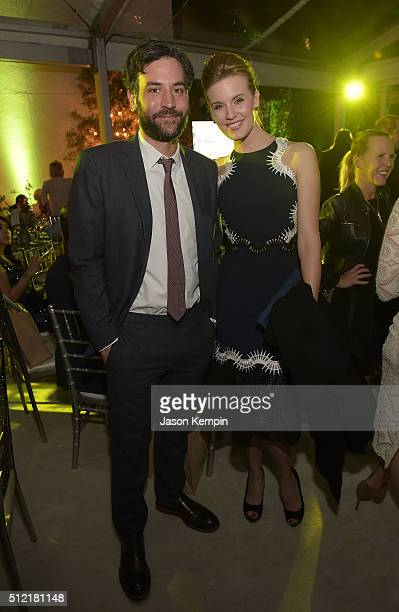 Josh Radnor and Maggie Grace attend Global Green USA's 13th Annual PreOscar Party at Mr C Beverly Hills on February 24 2016 in Beverly Hills...