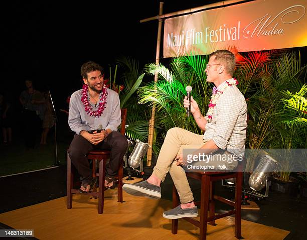 Josh Radnor during a QA with Marc Malkin at the 2012 Maui Film Festival on June 13 2012 in Wailea Hawaii