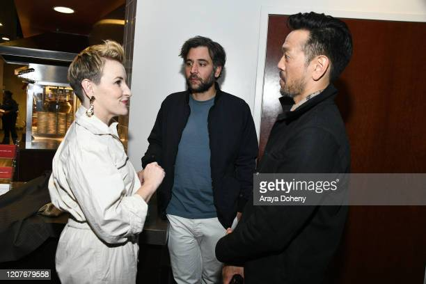 "Josh Radnor, Kate Mulvany and Louis Ozawa Changchien at Film Independent Screening Series Presents ""Hunters"" at ArcLight Culver City on February 20,..."