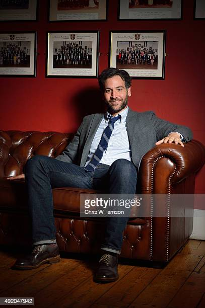 Josh Radnor posing for a portrait before his Cambridge Union address at The Cambridge Union on October 9 2015 in Cambridge Cambridgeshire