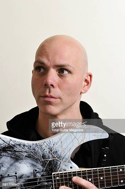 Josh Rand of American alternative metal band Stone Sour photographed during a portrait shoot for Total Guitar Magazine December 14 2012