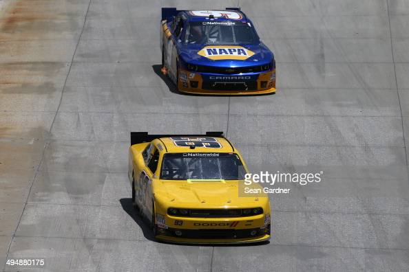Josh Reaume, driver of the JGL Racing Dodge, leads Chase ...
