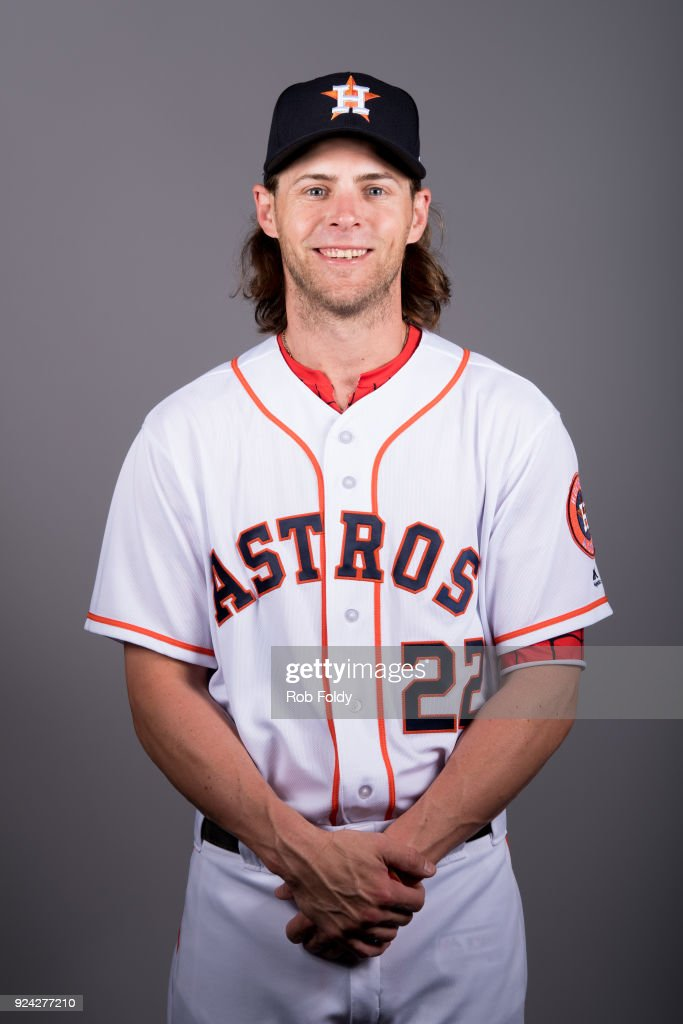 Josh Reddick #22 of the Houston Astros poses during Photo Day on Wednesday, February 21, 2018 at the Ballpark of the Palm Beaches in West Palm Beach, Florida.