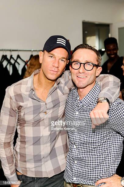 Josh Reed and Scott Cooke attend Dita Von Teese Collection Launch At Decades on October 18 2012 in Los Angeles California