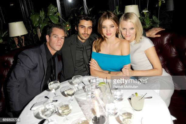 Josh Reed Jason Rogers Miranda Kerr and Laura Brown attend CALVIN KLEIN COLLECTION Women's Spring 2010 PostShow Dinner at The Standard on September...