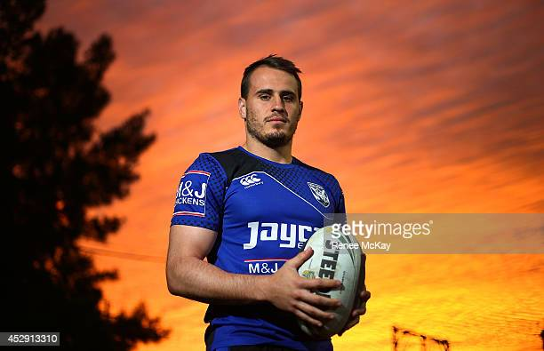 Josh Reynolds of the Canterbury Bulldogs poses during a portrait session at Belmore Sports Ground on July 28 2014 in Sydney Australia