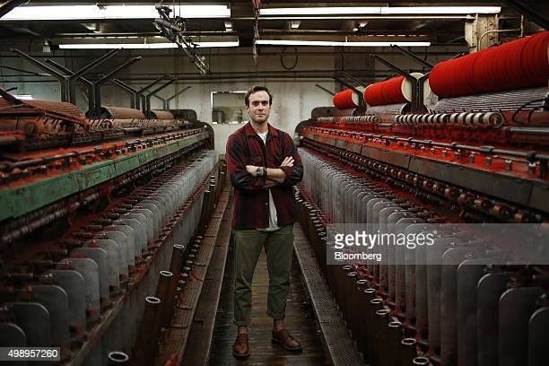 Josh Rich executive vice president of Woolrich Inc stands for a photograph at the company's woolen mill in Woolrich Pennsylvania US on Wednesday Nov...