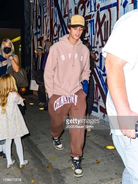Josh Richards is seen on October 22, 2021 in Los Angeles, California.