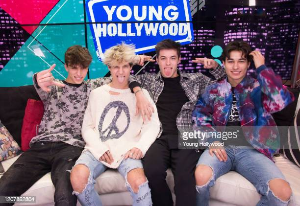 Josh Richards Jaden Hossler Griffin Johnson Kio Cyr at the Young Hollywood Studio on February 21 2020 in Los Angeles California