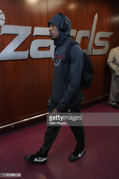 Josh Richardson of the Miami Heat arrives to the arena prior to the game against the Washington Wizards on March 23 2019 at Capital One Arena in...