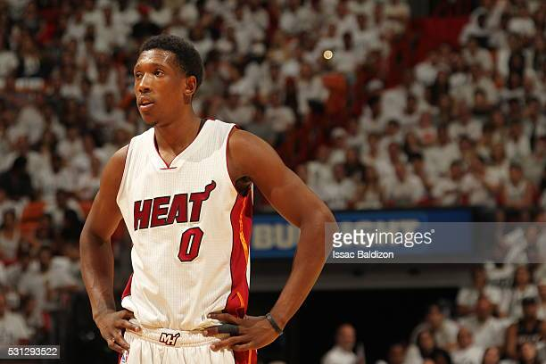 Josh Richardson of the Miami Heat looks on against the Toronto Raptors in Game Six of the Eastern Conference Semifinals during the 2016 NBA Playoffs...