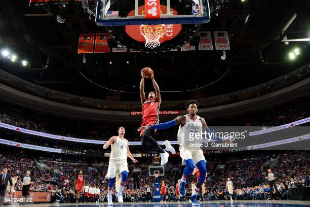 Josh Richardson of the Miami Heat shoots the ball against the Philadelphia 76ers in Game Two of Round One of the 2018 NBA Playoffs on April 16 2018...
