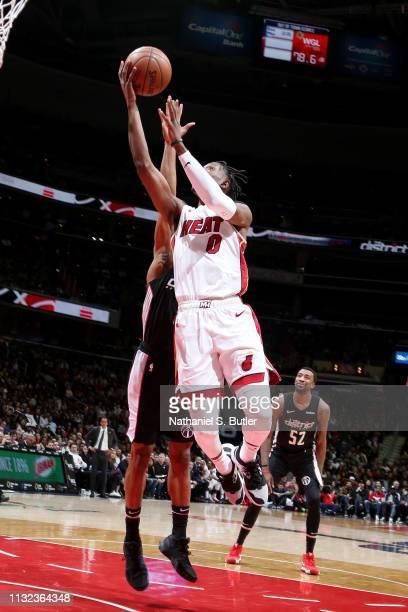Josh Richardson of the Miami Heat shoots the ball against the Washington Wizards on March 23 2019 at Capital One Arena in Washington DC NOTE TO USER...