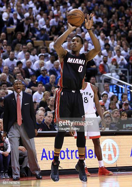 Josh Richardson of the Miami Heat shoots the ball in the second half of Game Five of the Eastern Conference Semifinals against the Toronto Raptors...