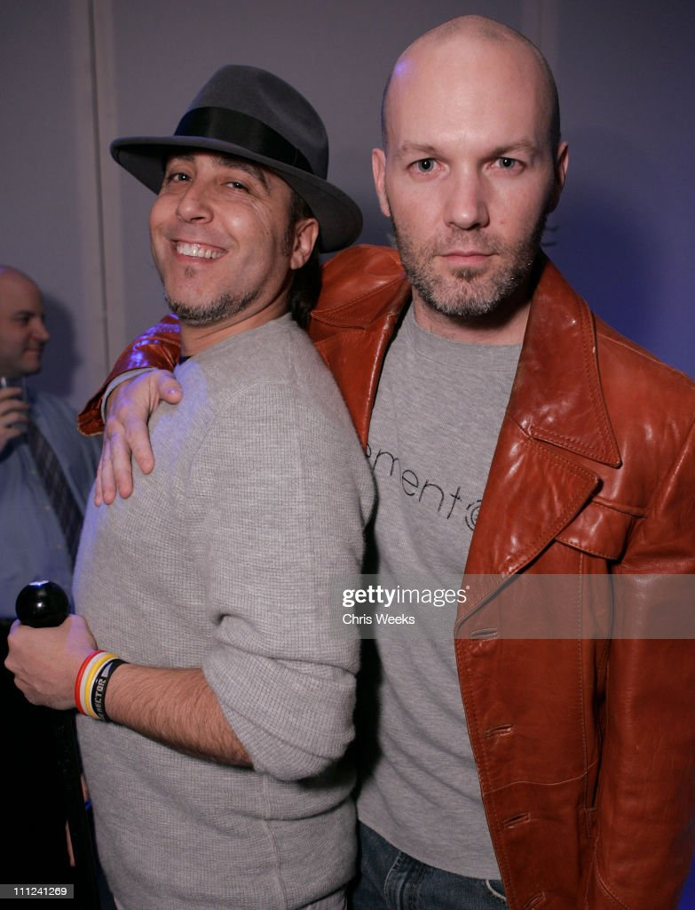 Josh Richman and Fred Durst during Party Celebrating the Premiere of the New TBS Comedy Series 'Daisy Does America' - Red Carpet & Inside at Guy's in West Hollywood, California, United States.