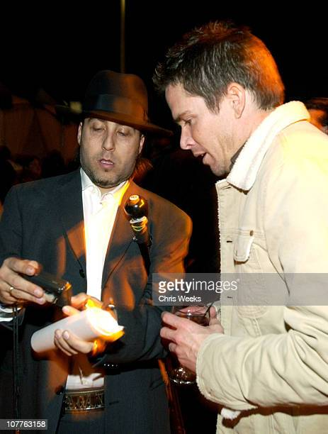 Josh Richman and Mark McGrath during EMI 2004 GRAMMY Party at Los Angeles County Museum of Art in Los Angeles California United States