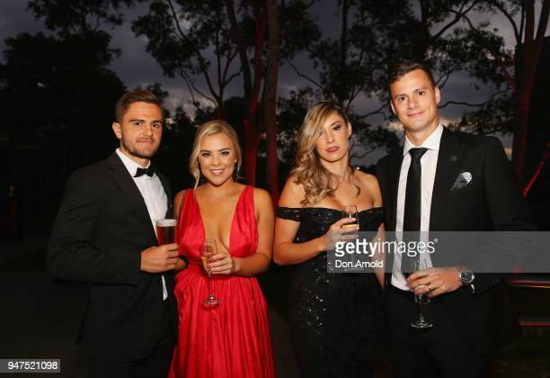 Josh Risden Ebony TolconAdriana Riera and Oriol Riera attend the Wanderers Medal 2018 on April 17 2018 in Sydney Australia